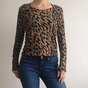 SA Sport - Animal Print Long Sleeve Shirt